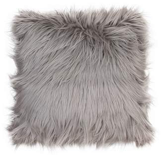 Decor Therapy Keller Faux Mongolian Reverse To Micromink Throw Pillow - Décor Therapy