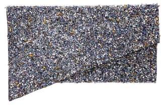 Nina Stardust Bead Asymmetrical Envelope Clutch