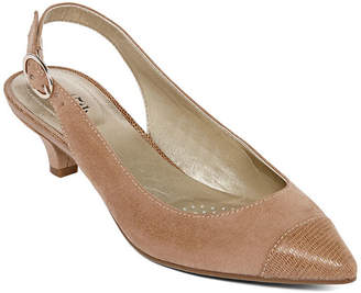 East Fifth east 5th Womens Harbin Pumps Buckle Pointed Toe Cone Heel