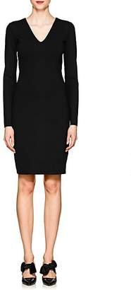 The Row Women's Betiana Neoprene-Jersey V-Neck Dress - Black