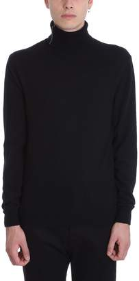 Mauro Grifoni Black Wool Turtleneck Sweater