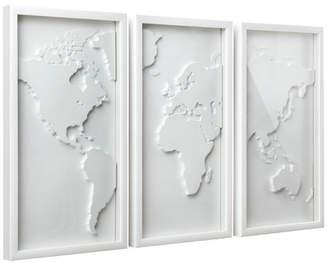 Umbra Mapster Triptych Wall Decor