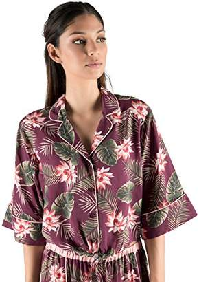 Rebel Canyon Young Women's Short Sleeve Tie Front Pajama Top