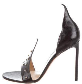 Francesco Russo Flame d'Orsay Sandals w/ Tags