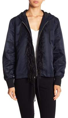 Cinq à Sept Feathered Bomber Jacket