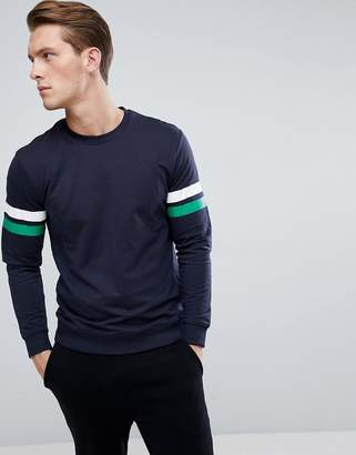 ONLY & SONS Sweatshirt With Multi Arm Stripe
