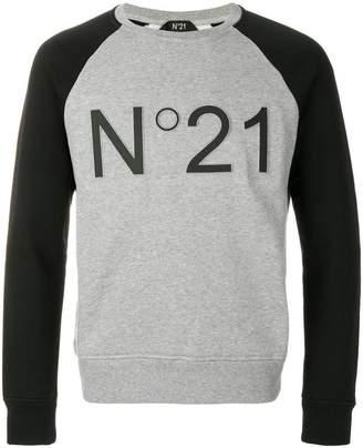 No.21 cropped logo sweatshirt