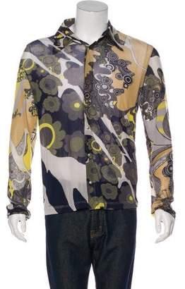 Just Cavalli Metallic Trimmed Printed Shirt