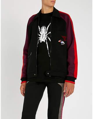 Lanvin Side-stripe appliquéd cotton-jersey track jacket