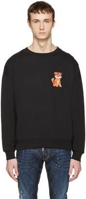 Moschino Black Cotton Tiger Pullover $395 thestylecure.com