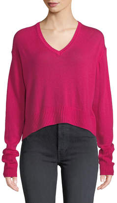 RE/DONE Slouchy Wool/Cashmere V-Neck Sweater