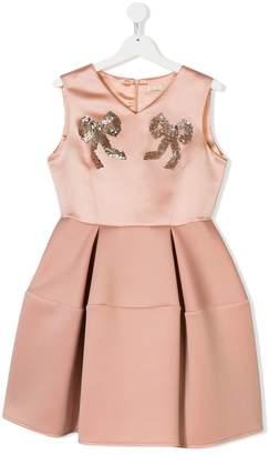 179e16ed662a Elisabetta Franchi La Mia Bambina TEEN bow sequinned dress