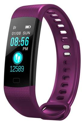 Akoyovwerve Y5 Color Screen IP67 Waterproof Smart Watch Bluetooth Fitness Tracker Bracelet Smart Wrist Watch Band for iphone Android w/ Touch Screen Purple