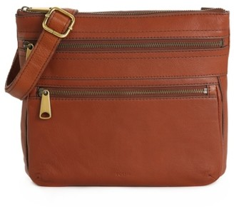 Fossil Voyager Leather Crossbody Bag