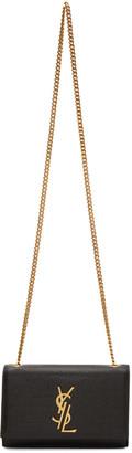 Saint Laurent Black Small Deconstructed Monogram Kate Chain Wallet Bag $1,790 thestylecure.com