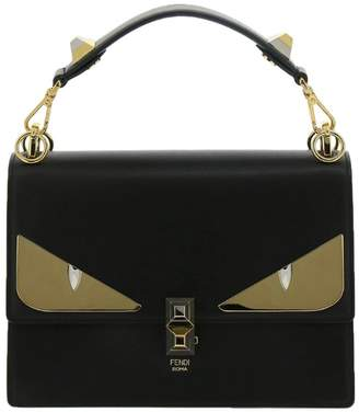Fendi Handbag Monster Eyes Kan I Bag In Genuine Leather With Maxi Metal Eyes Bag Bugs