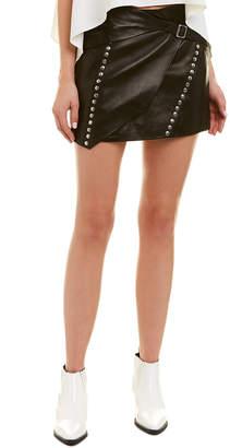 IRO Mupper Studded Leather Mini Skirt