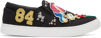 Marc Jacobs Black Embroidered Mercer Sneakers $350 thestylecure.com