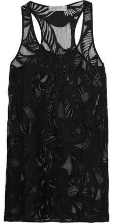 Emilio Pucci Perforated Cotton-Blend Mini Dress