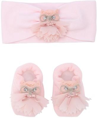 La Perla Owl Wool Knit Headband & Socks Set