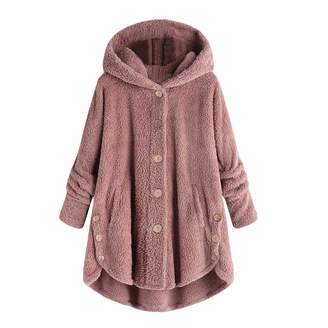 ca298479f05 Aritone - women clothes Womens Button Hooded Cotton Coat Clearance Plus Size