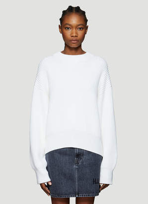 Helmut Lang Crewneck Sweater in White