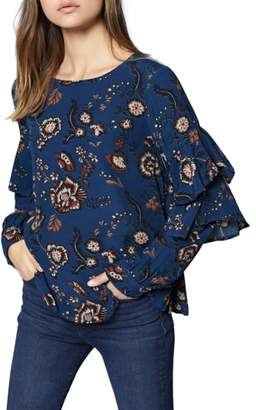 Sanctuary Tilly Floral Ruffle Sleeve Top