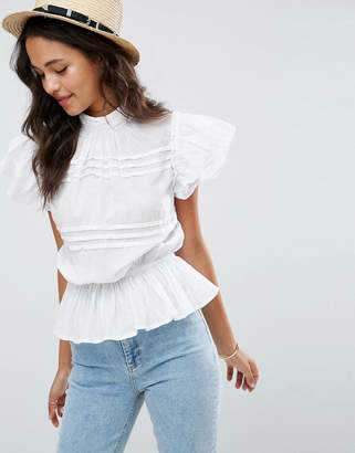 ASOS Casual Short Sleeve Victoriana Top $45 thestylecure.com