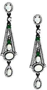 Design Lab Geometric Pave Drop Earrings
