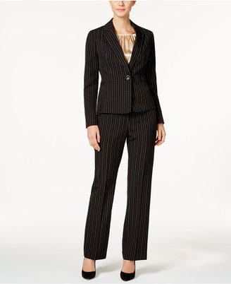 Le Suit 3-Pc. Pinstriped Pantsuit $240 thestylecure.com