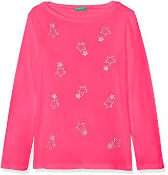 Benetton Girl's L/s T-Shirt,(Manufacturer Size: 2y)