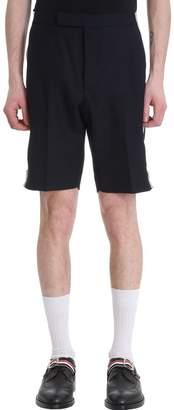 Thom Browne Blue Wool Backstrap Shorts