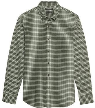 Banana Republic Grant Slim-Fit Luxe Flannel Grid Shirt
