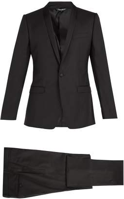 Dolce & Gabbana Gold-fit single-breasted wool-blend suit