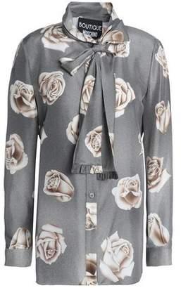 Moschino Floral-Print Silk Shirt