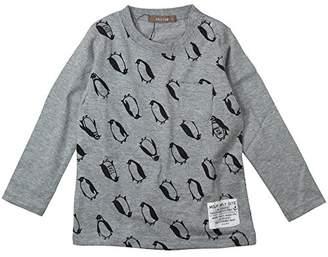 nico hrat (ニコ フラート) - 《H28年秋冬物》 nico hrat(ニコフラート) 製品洗い加工済み 42/2天竺ペンギン長袖Tシャツ 95cm /MG B-260267
