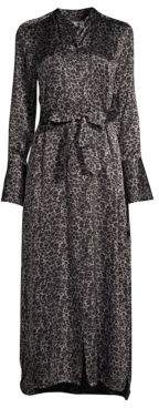 Equipment Connell Leopard Print Maxi Dress