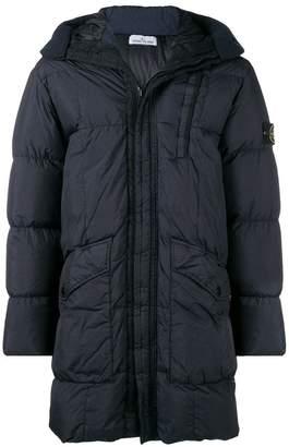 Stone Island padded hooded coat