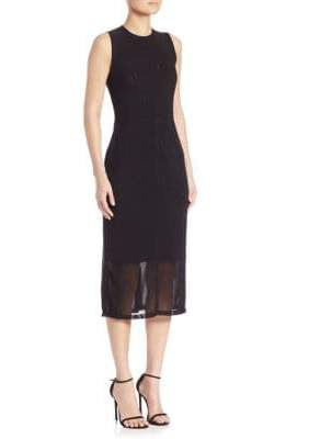 Saks Fifth Avenue Power Mesh Sleeveless Pencil Dress