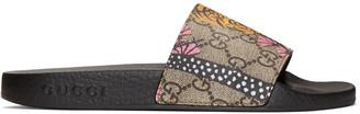 Gucci Brown Pursuit Trek Bengal Sandals $290 thestylecure.com