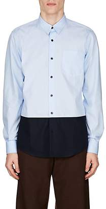 Dries Van Noten Men's Colorblocked Cotton Shirt