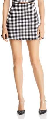 Aqua Gingham A-Line Mini Skirt - 100% Exclusive