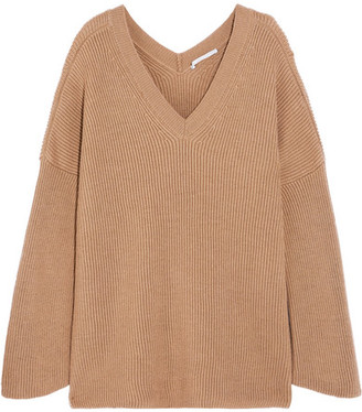 Stella McCartney Oversized Ribbed Wool Sweater - Camel