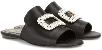 Roger Vivier Pilgrim satin sandals