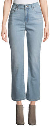 Eileen Fisher High-Waist Boot-Cut Organic Cotton Denim Jeans, Plus Size