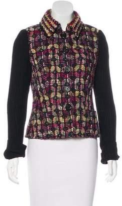 Rena Lange Tweed Button-Up Jacket