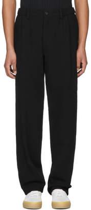 Issey Miyake Black Straight Leg Trousers