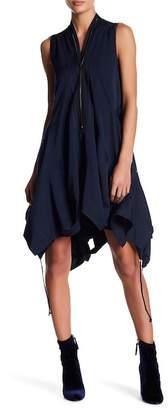 Gracia Asymmetrical Zip Trim Dress