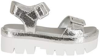 KENDALL + KYLIE Metallic Wedge Sandals