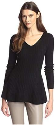 James & Erin Women's Peplum Cashmere Sweater